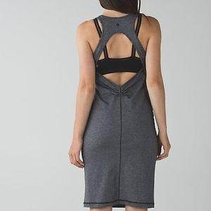 Lululemon Go For It Tank Black Microstripe Dress 6